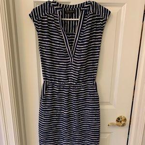 Banana republic blue stripe dress